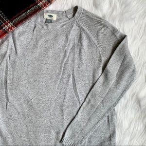 Old Navy Solid Grey Sweater